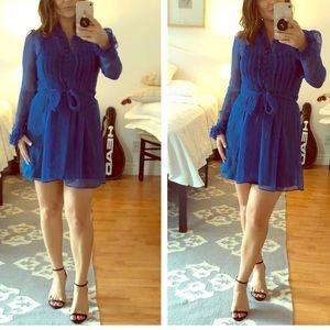 Vintage Blue Shirt Dress